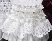 Lace Trim Creamy-white Elegant Princess Style Stretch Lace 2.75'' width 1 yard