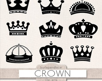 Crown clipart, Digital clipart crowns for invitations, clipart crown,  digital crown