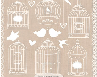 Birdcage Clip Art Clipart, Bird Cage Clip Art Clipart, lace clipart, lace border, wedding invitation, wedding clipart, instant download