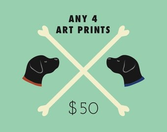 4 Art Prints Special - Four wall art prints