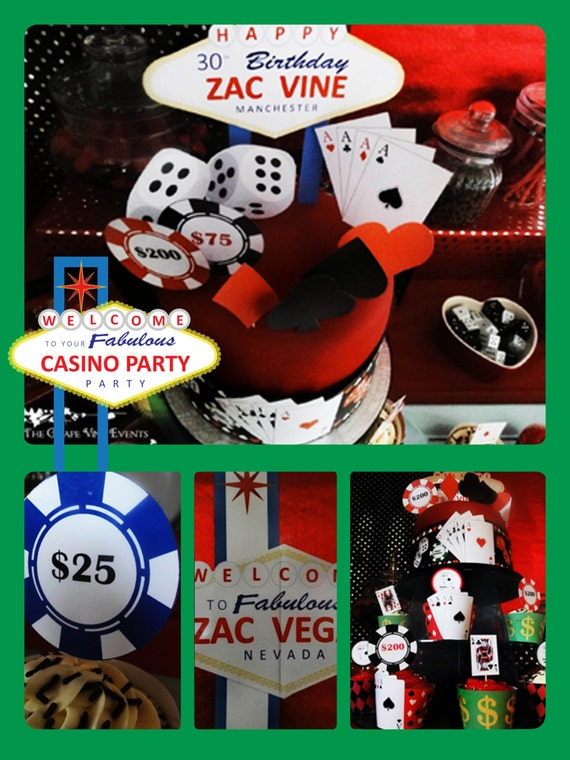 CASINO/Las Vegas - Poker - Package - Personalised - Birthday - Bachelorette - Stag - Bachelor - PRINTABLE - Pdf - Digital Files