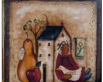 Primitive Folk Scene - by Terrye French, E-Pattern