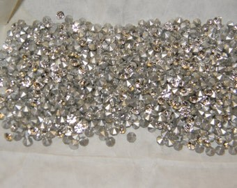 REDUCED!!! 10 Gross Silver Folied Preciosa Rhinestones SS17