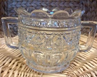 Vintage Higbee Glass Celery Vase