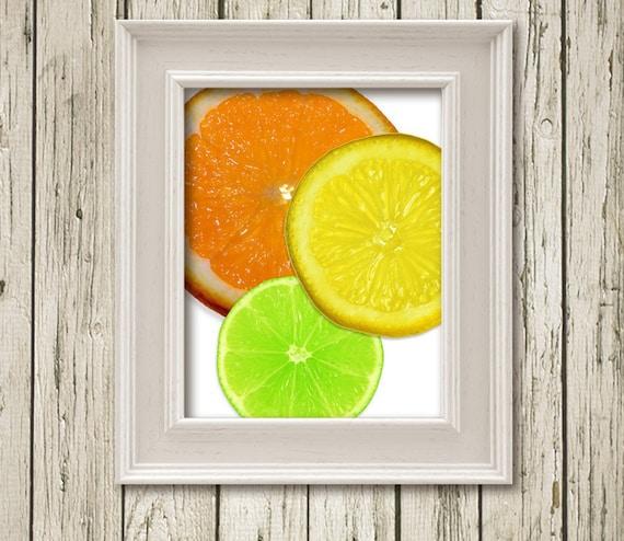 Items similar to Orange Lime Lemon Citrus Printable