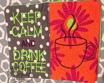 Mug Rug - Coffee or drink coaster In the hoop , Coaster