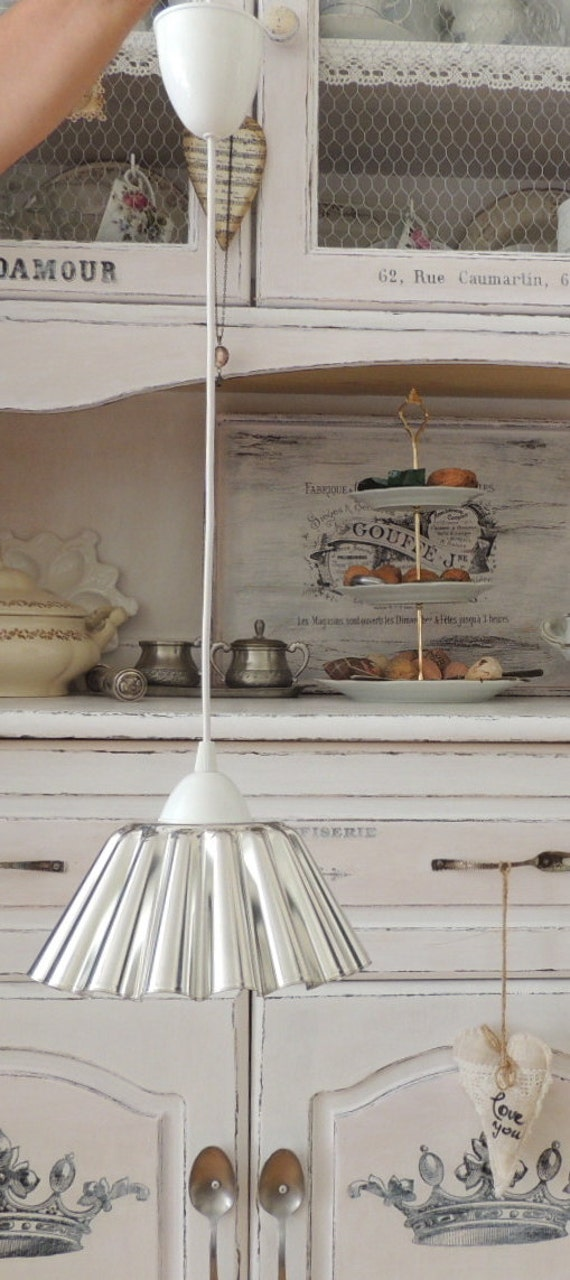 Articoli simili a lampada shabby chic cucina sala da for Articoli shabby