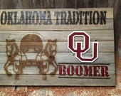 """Oklahoma Tradition - BOOMER  37.5"""" x 24.5"""" approx. Item #622"""