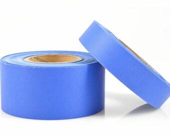 BLUE PAPER RIBBON - Dark Blue Ribbed Paper Ribbon / Belly Band (30 metre roll)