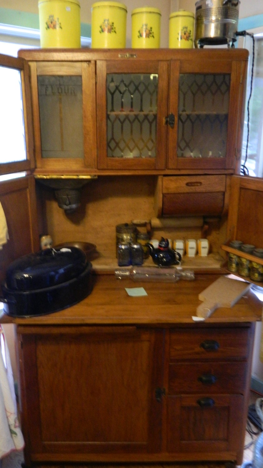 1910 Nappanee Oak Hoosier Cabinet Rare Early By Thehoosierman