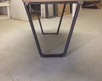 flat metal table legs free shipping by blueridgemetalworks