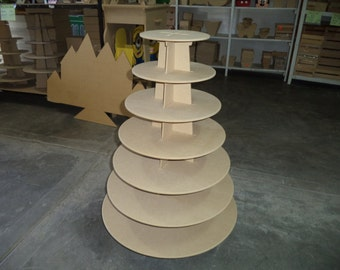 7 tier cupcake stand made of MDF wood