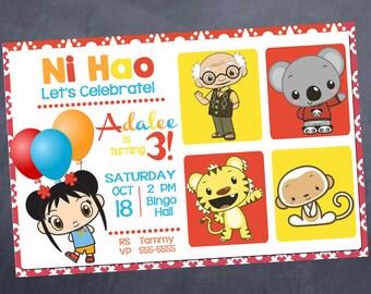 Printable Kai Lan Birthday Invitation - Customizable for any age!