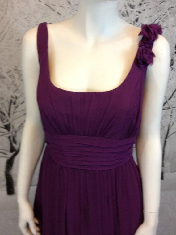 Vintage Silk Sugar Plum Purple Empire Cocktail Dress Size 10
