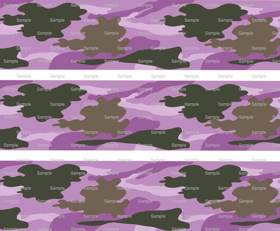 Purple Hunting Camo - Birthday Background - Designer Strips - Edible Cake Side Toppers- Decorate The Sides of Your Cake! - D9803