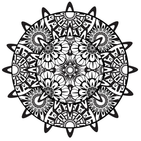 Items similar to Mandala Coloring Page, Mandala, Printable ...