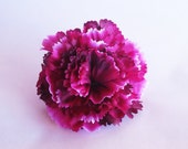 "Artificial Flowers Big Bordeaux measuring 3.8"" Floral Hair Accessories Flower Supplies Faux Fake"