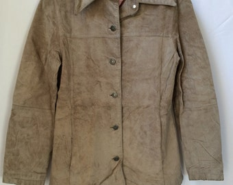 Vintage Nordstrom B.P. Jacket, Genuine Leather, Nylon/Acetate Lining