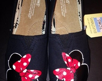 Black Disney Minnie Toms NO Glitter