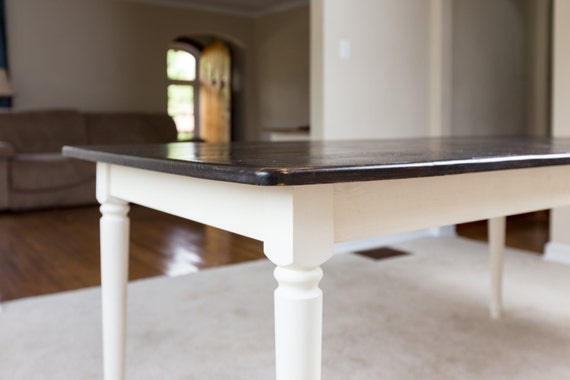 Dark Walnut Rustic Dining Table Farm Style By