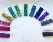PICK THREE Sparkle Hair Clips - 20 Colors - Snap Clip Or Alligator Clips