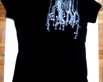 Circuit Board Screenprinted TShirt