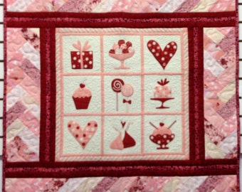 Candy Kisses Quilt / Wall Hanging