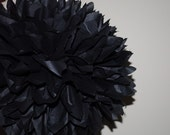 1 Black Tissue Paper Pom / Gothic Wedding Decor / Halloween / Birthday Party / Anniversary / Black And White Theme Paper Decorations