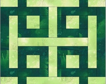 Celtic Loopy Knot Chain Paper Template Quilting Block Pattern PDF