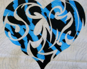 Tribal Heart 3 Quilt Applique Pattern Design (easy)