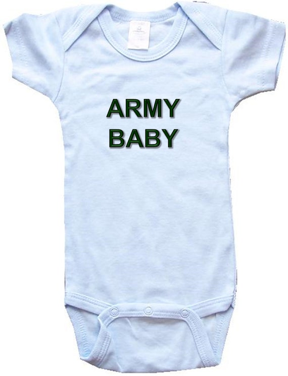 Baby e Piece Body Suit Personalized Gifts Army Baby White