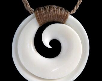 Bound Maori Koru Necklace From New Zealand