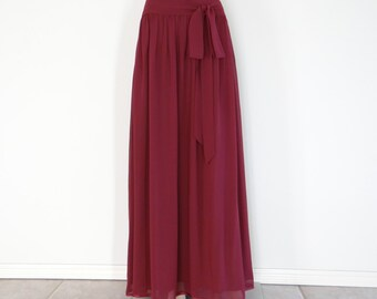 Navy Blue Long Skirt. Maxi Skirt