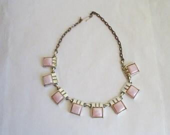 Vintage Pink Necklace-Classic Piece