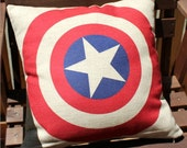 010099  American Captian Logo Hero Heavy Cotton Linen Pillow Cover Back Cushion Cover gift home decoration