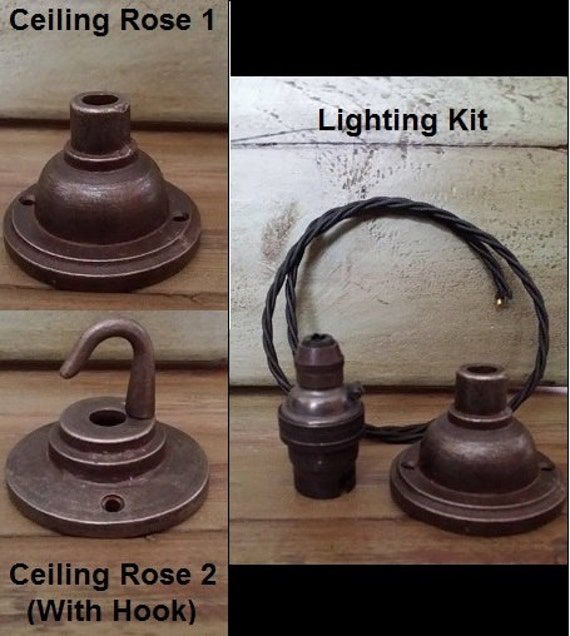 Hook Ceiling Gland Rose Period Iron Vintage By