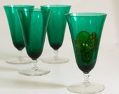 Beautiful Green parfait glasses from the 60's
