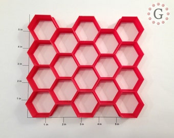 """1 1/2"""" Hexagon Cutter 18 Count for Cookie Dough or Clay"""