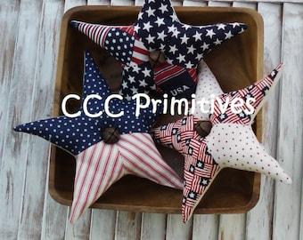 Primitive Pattern - Americana Stars Bowl Filler E- Pattern - Americana Patchwork Stars - USA Bowl Filler Pattern - Stars Bowl Filler Pattern