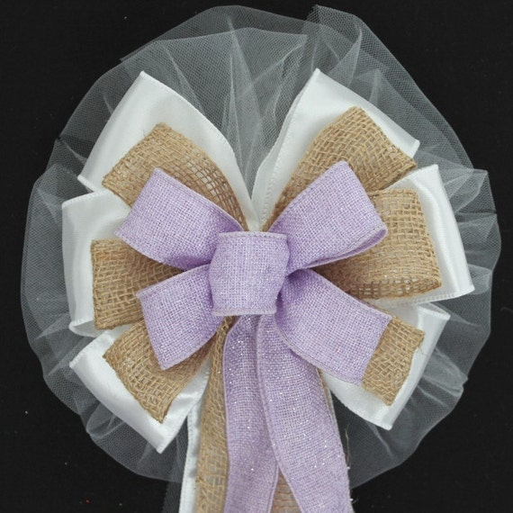 Church Wedding Aisle Decoration Ideas: Items Similar To Lavender Sparkle And Natural Burlap