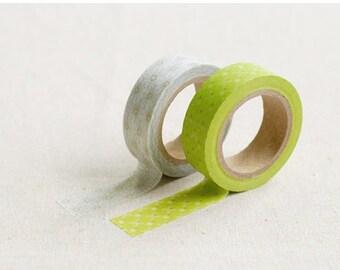 2 Rolls Masking Tape Set / 2 Rolls Washi Tape Set