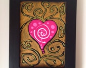 HEART WITH GOLD an original acrylic painting
