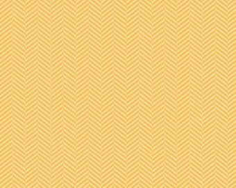 Apple of My Eye Herringbone Yellow by Riley Blake Designs 1/2 Yard 100% Designer Cotton Fabric by The Quilted Fish C2896-YELLOW