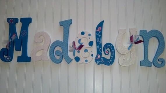Custom Hand Painted Nursery Letters Nursery Letters Baby