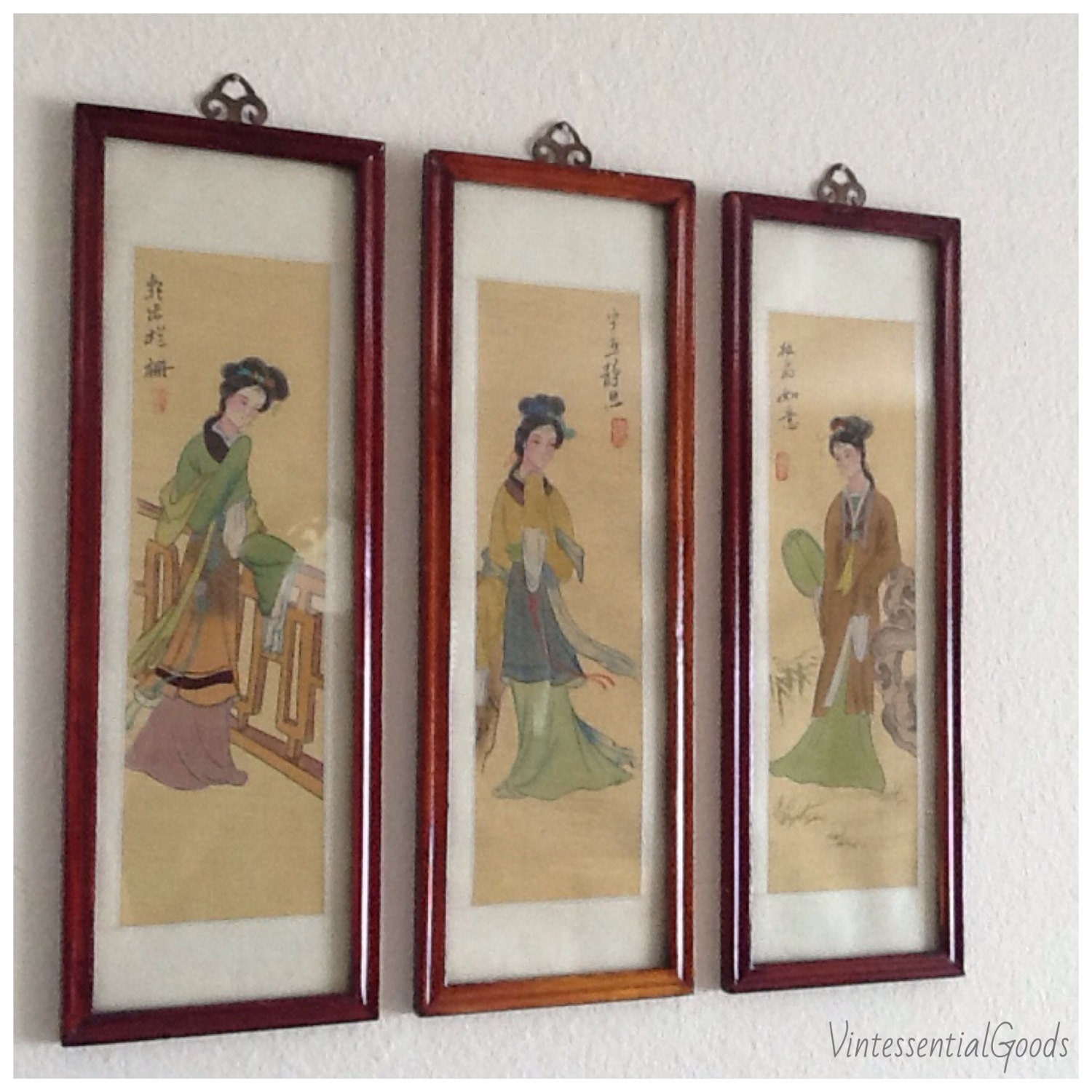 japanese paintings on silk