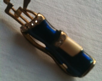 Little Golf Bag with Clubs Brooch