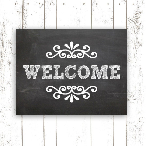 Magic image for printable welcome sign