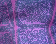 Marimekko fabric purple small Ovals Marimekko Satula Cotton Fabric Scandinavian Design Scandinavian Textile