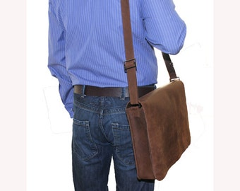 Men Messenger Bag Leather Messenger Bag Brown Leather Messenger Bag