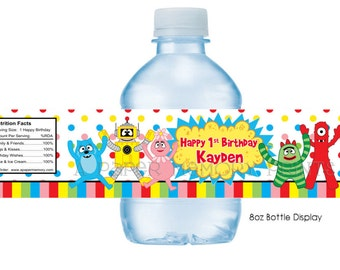 Yo Gabba Gabba Water Bottle Labels DIY Printable